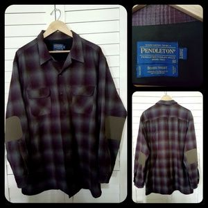 Pendleton Elbow Patch Plaid Shirt.   A CLASSIC!!
